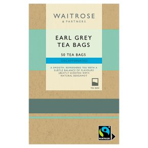Waitrose 50 decaffeinated Earl Grey tea bags