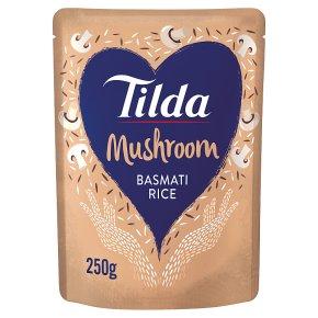 Tilda steamed mushroom basmati rice