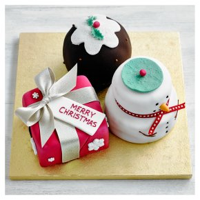 Fiona Cairns Festive Trio of Mixed Cakes