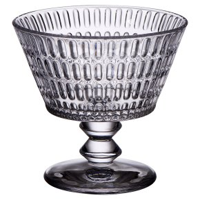 Waitrose Ava Pressed Glass Dessert Bowl