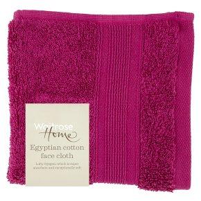 Waitrose Home Egyptian Cotton Facecloth Raspberry