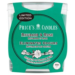 Price's Candle Rhubarb & Rose