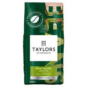 Taylors rich Italian coffee beans