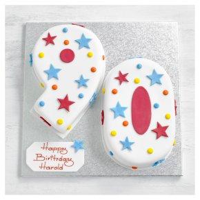 90th Birthday Stars And Dots Cake
