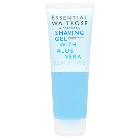 essential Waitrose shaving gel with aloe vera