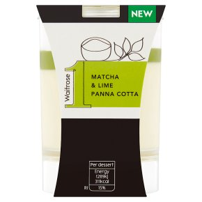 Waitrose 1 Matcha & Lime Panna Cotta