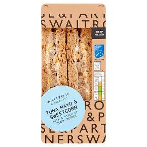 Waitrose deep fill tuna mayo and sweetcorn sandwich