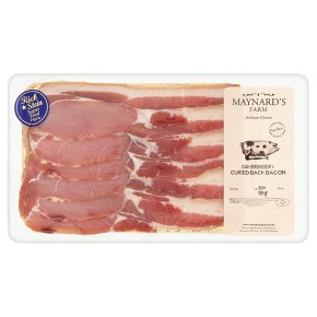 Maynards oak smoked dry cured back bacon