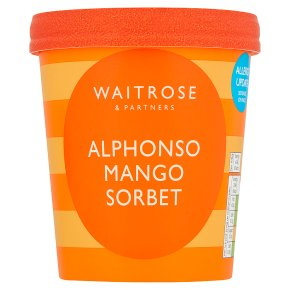 Waitrose alphonso mango sorbet