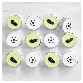 12 Football Cupcakes