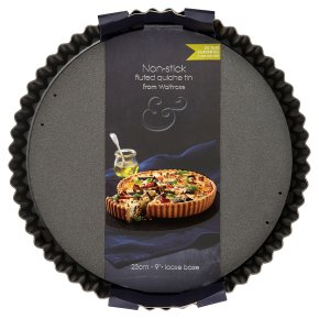 from Waitrose 23cm (9) non-stick loose base fluted quiche tin