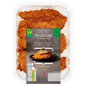 Waitrose Gluten Free Breaded Chicken Mini Breast Fillets