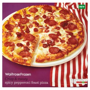 Waitrose Frozen spicy pepperoni feast pizza