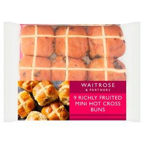 Waitrose richly fruited mini hot cross buns