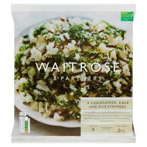 Waitrose 4 Cauliflower, Kale and Rice Steamers