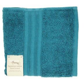 Waitrose Home Egyptian Cotton Hand Towel Peacock