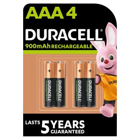 Duracell Rechargeable Precharged AAA Batteries 800mAh NiMH