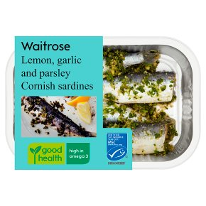 Waitrose Lemon, Garlic & Parsley Sardines