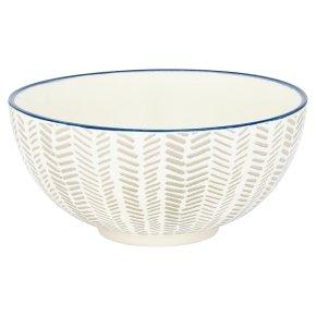 Waitrose Oriental Dash Grey Large Bowl