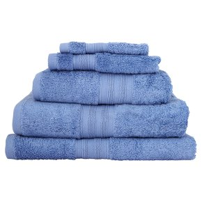 Waitrose Home Egyptian cotton sky guest towel