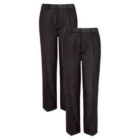 Boys 2 pack basic trousers, grey, 6 years
