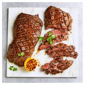 2 Flat Iron Beef Steaks with Black Pepper & Soy