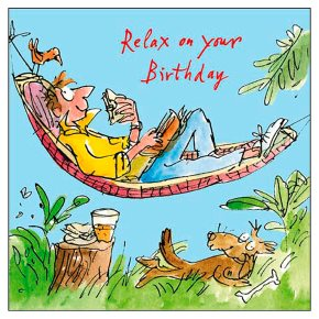 Quentin Blake Male Birthday Card