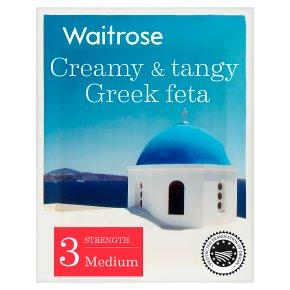 Waitrose creamy & tangy Greek feta cheese