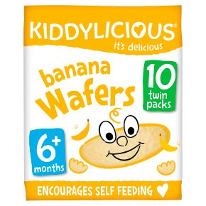 Kiddylicious 10 Banana Wafers
