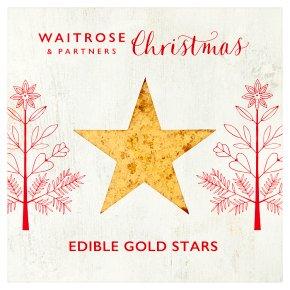 Waitrose Christmas edible gold stars