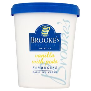 Brookes Vanilla w Pods Ice Cream