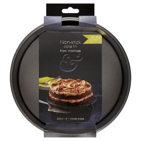 from Waitrose 20cm (8) non-stick loose base deep cake tin