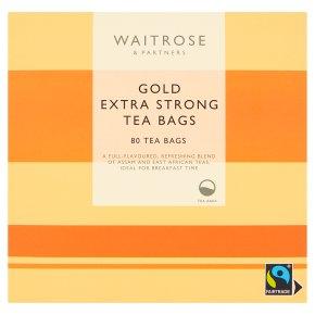 Waitrose Gold Tea Bags Extra Strong 80