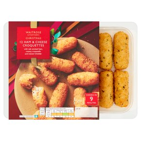 Waitrose Christmas 12 Ham & Cheese Croquettes