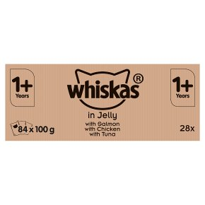 Whiskas 1+ with Salmon, Chicken & Tuna in Jelly