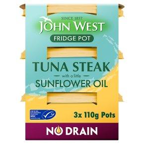 John West MSC No Drain Tuna Steak in Sunflower Oil