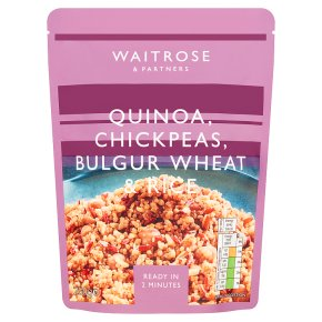 Waitrose LoveLife Quinoa, Chickpeas Bulgar Wheat & Rice