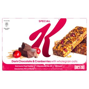 Kellogg's Special K Cereal Bars Dark Chocolate &Cranberry