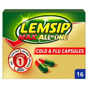 Lemsip Max all in one cold & flu capsules