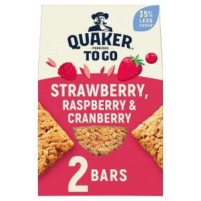 Quaker Porridge To Go Breakfast Squares Strawberry