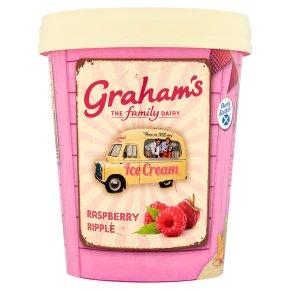 Graham's Raspberry Ripple Ice Cream