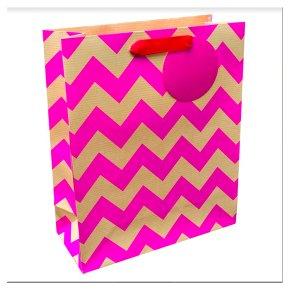 Waitrose Pink Chevron Medium Bag