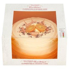 Waitrose Christmas Clementine & Orange Cake