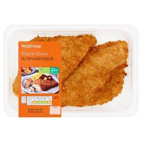 Waitrose 2 plaice fillets in breadcrumbs