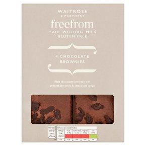 Waitrose Free From 4 Chocolate Brownies