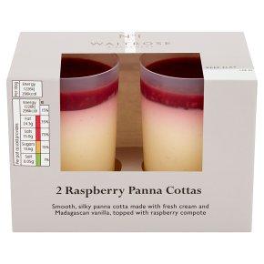 Waitrose 1 Raspberry 2 Panna cottas