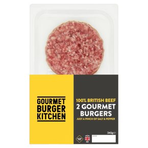 Gourmet Burger Kitchen 2 British beef burgers
