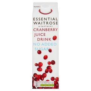 essential Waitrose No Added Sugar Cranberry Drink