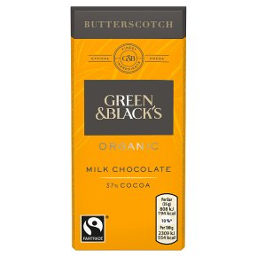 Green & Black's organic butterscotch milk chocolate bar