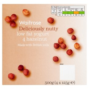 Waitrose 4 deliciously nutty hazelnut low fat yogurts